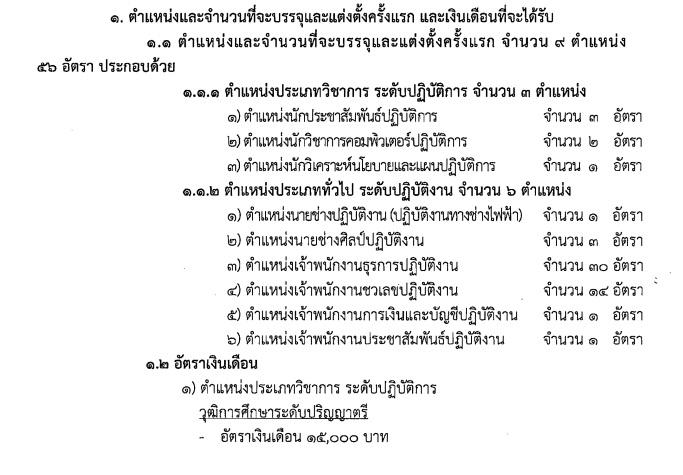 ข่าวงานราชการ สำนักงานเลขาธิการวุฒิสภา เปิดรับสมัครสอบบรรจุเข้ารับราชการรัฐสภาสามัญ จำนวน 9 ตำแหน่ง 46 อัตรา